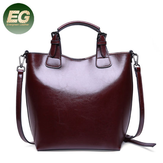 4db4238049 Real Leather 2PCS in 1 Set Lady Handbag Tote Bag with Pouch Emg5498  pictures   photos