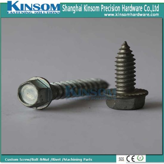 Custom Hexagonal Flange Self Tapping Screw with Steel pictures & photos