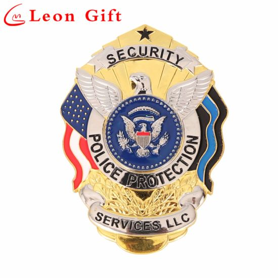 Factory Metal Merit Pin Custom Police Badges for Souvenir