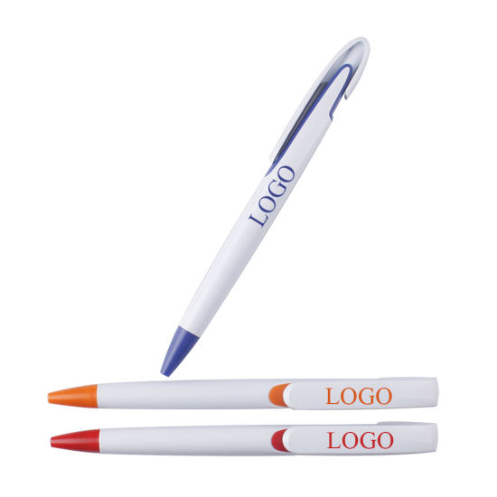 White Hot Sale Amazing Promotional Gift School Stationery Office Supply Logo Printed Ball Point Pen (ZH-5003)