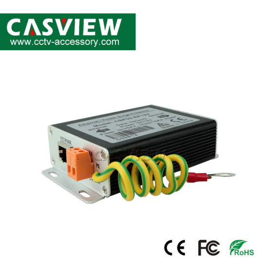 Ethernet+DC12V Power Supply Surge Protector Aluminium Supply Prevents Thunder CCTV Accessories Arrestor Lighting Protection