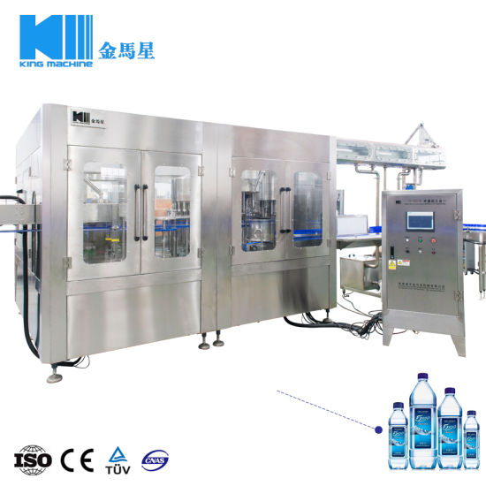 Factory Price Automatic Pet Bottle Mineral Water Beverage Filling Bottling Labeling Packing Production Machine