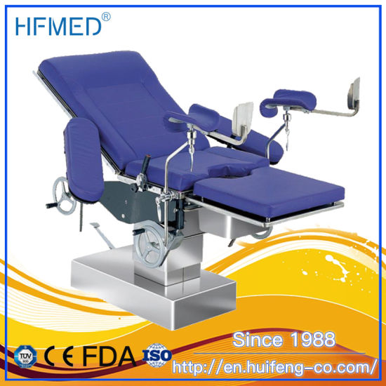 Women Birthing PU Material Gynecological Examination Bed with Ce (HFMPB06B)