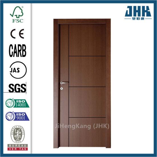 Jhk-FC03 Composite Hollow/Solid Wooden Interior Modern Groove Flush Door