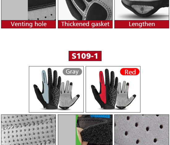Cycling Bike Gloves Touch Screen Breathable Anti-Slip Elasticity Men Women Hiking Outdoor MTB Bicycle Gloves