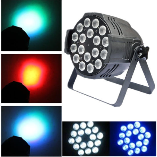 Stage Lighting Full Color 18PCS 6in1 LED PAR Light with Ce RoHS