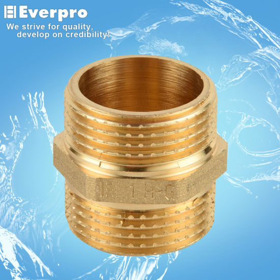 Brass Forged Straight Nipple/Brass Fitting (EFC-N1422)
