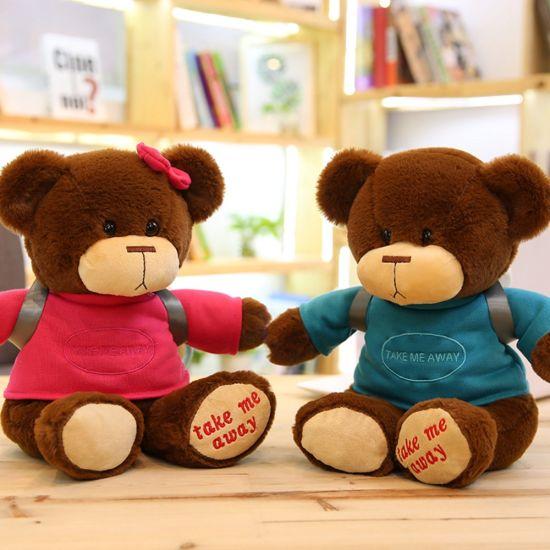 Hot Sale Dressed T Shirt Teddy Bear Plush Stuffed Toy