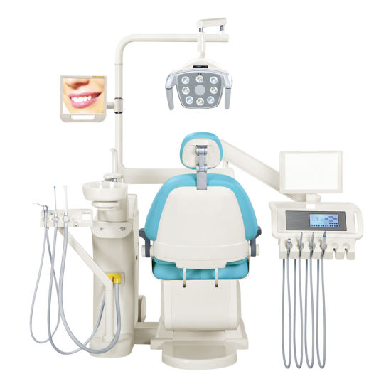 Luxurious Type Imported Upholstery Floor-Fixed China Dental Equipment Unit, Medical Equipment Suppliers (GD-S450)