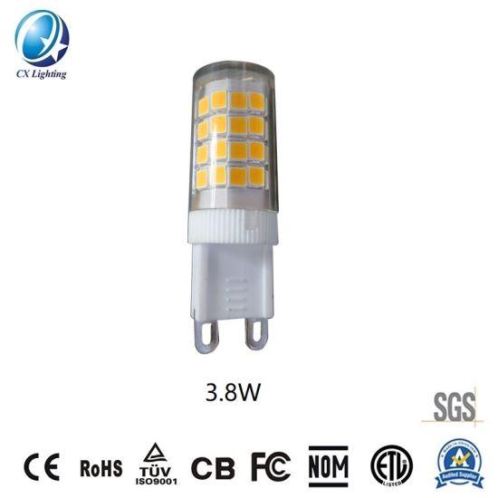 Epistar E14 LED Lamp Beads G9 3.8W 360lm 120V or 230V Ce RoHS 2700-6500K Plastic