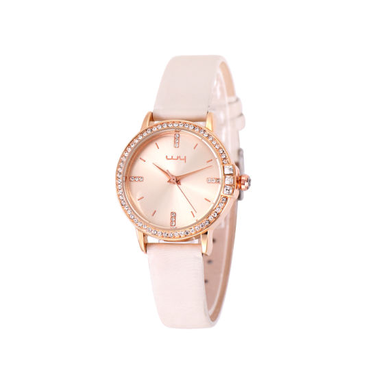 Hot Sale Quartz Watch Leather Strap Ladies Wrist Watches Wy-013