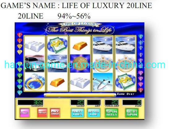 Life of Luxury 20 Line Slot Arcade Gambling Casino Game Machine