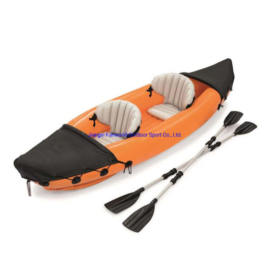 Wholesale Cheap 2021 New Type Thick Inflatable Fishing Boat Double Inflatable Kayak Rubber Boat for Water Play Equipment