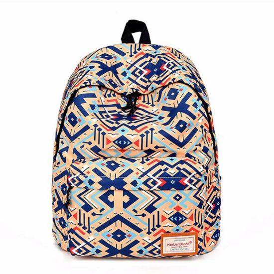 Best Selling Custom Polyester Waterproof Student Backpack Kids School Bag