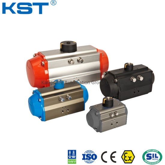 Ball Valve/Butterfly Valve/Control Valve Air Torque Aluminum Alloy Double Acting and Spring Return Pneumatic Rotary Actuator