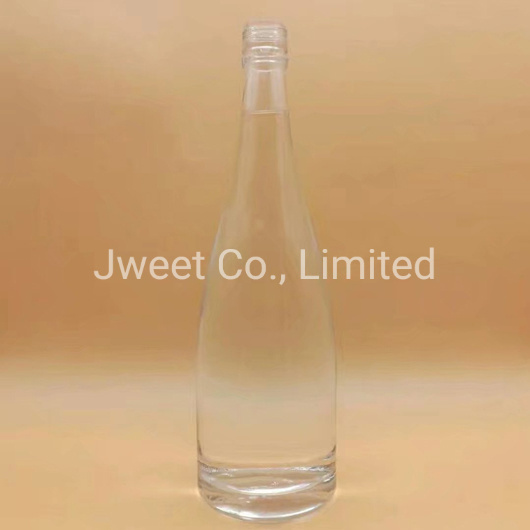 Factory Custom Clear Glass 1.75L Whisky Alcoholic Glass Bottle
