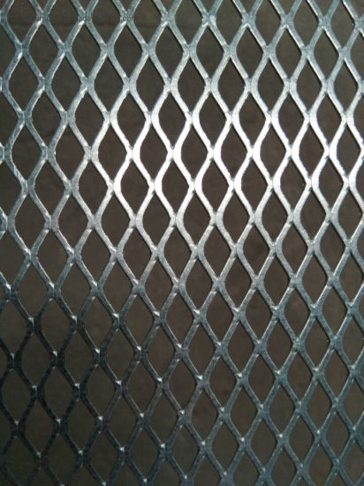 Flattened Galvanized Steel Expanded Metal Mesh 0.8mm 1.2mm Thickness