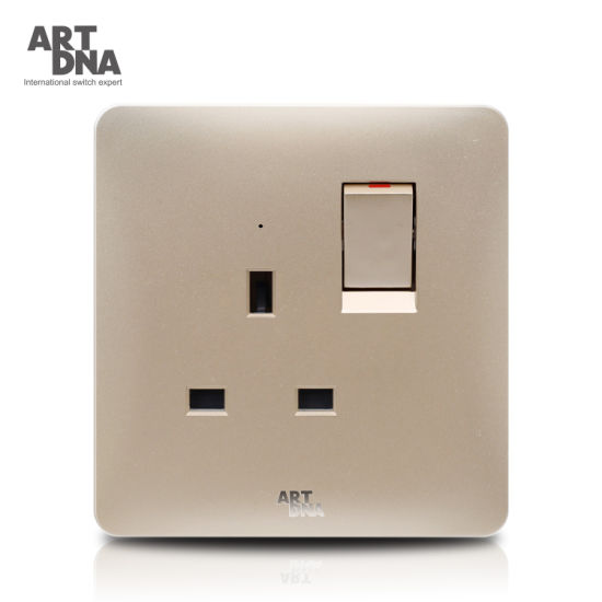 13A Single Switched Socket with Neon