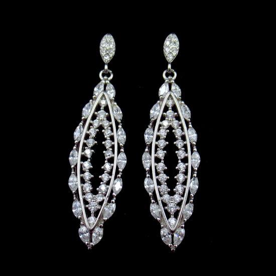 Dangle Earrings Cubic Zirconia Drop Earrings Fashion Jewelry for Women Girls Bridal Wedding Style