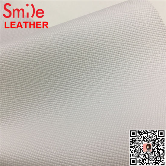 Hotsale PVC Leather Faux Rexine Cloth for Bag Cross Design