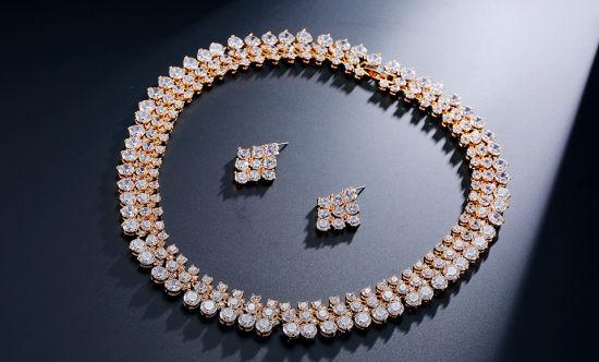 Fashion CZ Jewelry Wedding CZ Jewellery Set for Women High Quality CZ Necklace Bridal Jewelry Necklace Bridal CZ Necklace Set Fashion Necklace