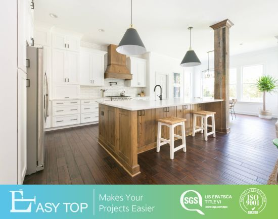 Easy Top Full House Cabinets Frameless White Shaker Solid Wood Kitchen Cabinets in Modern Style