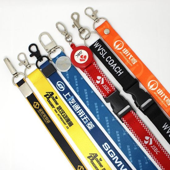 Promotional Gift Factory Custom Sublimation Printed Neck Lanyard Strap with Logo Custom Printing Landyard