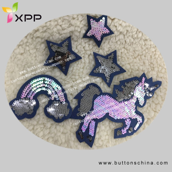 2019 Year Fashion Sequin Hot Fix Patch