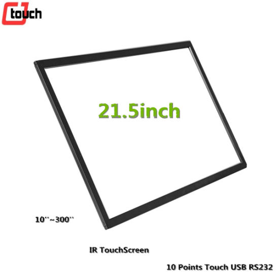 Cjtouch Infrared IR Touchscreen 21.5inch Capacitive Transparent Pure Glass LCD Monitor Display Panels Overlay pictures & photos
