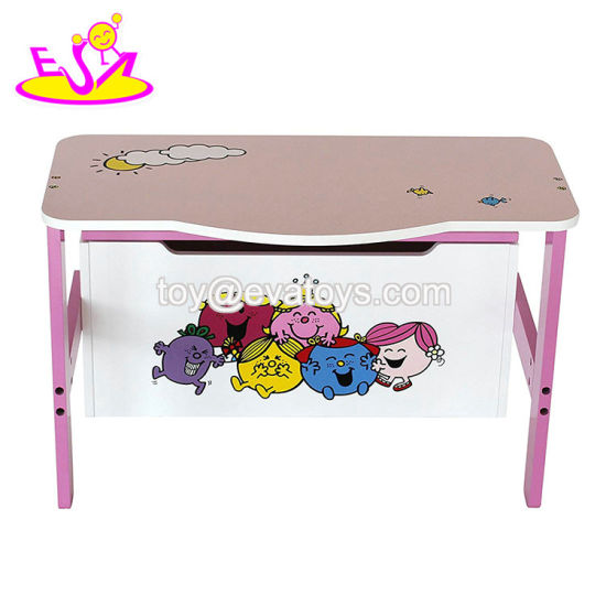 China 2019 New Design Living Room Wooden Toy Storage Bench For