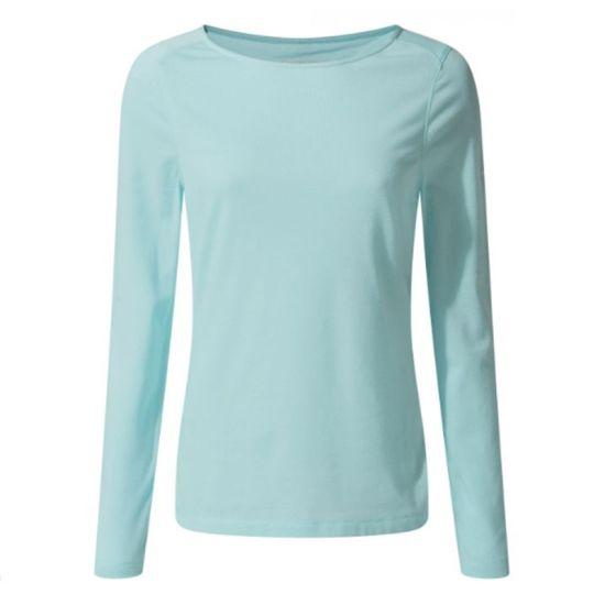 High Quality Solid Merino Wool Women Thermal Shirt