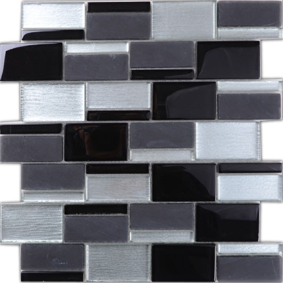 Russia Style Home Application Vetro Strip Crystal Glass Mosaic