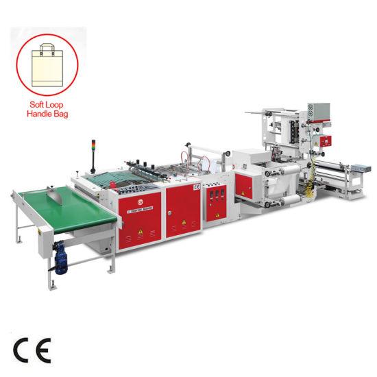 Plastic LDPE Soft Loop Weld Heat Sealing Cutting Bag Machine