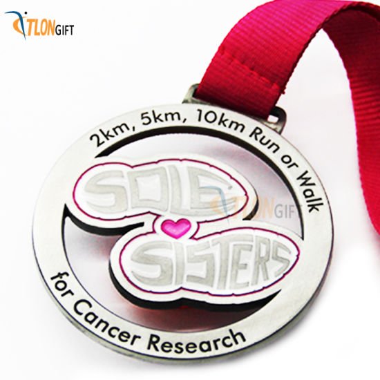 Creative Customized Sports Award Cancer Research Medal