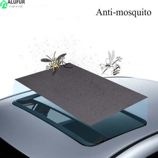 Car Mesh Sunroof Mosquito Blocking Sun Shade Moonroof with Built-in Magnetic Stripe