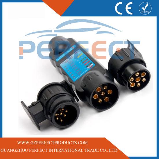 7 Pin Trailer Caravan RV Towbar Plug Socket Tow Wiring Light Connettore DC
