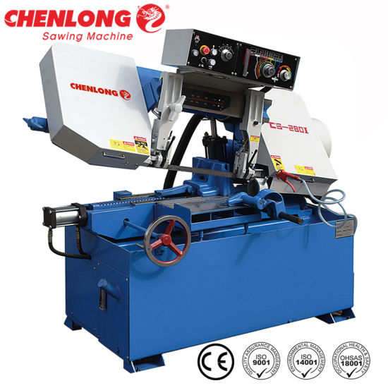 Chenlong CS-280I Pipe Cutting Band Saw Machine Cutting Video