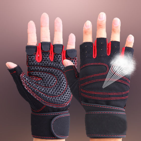 Men Women Yoga Fitness Gloves Weight Lifting Gym Training Gloves for Work DH