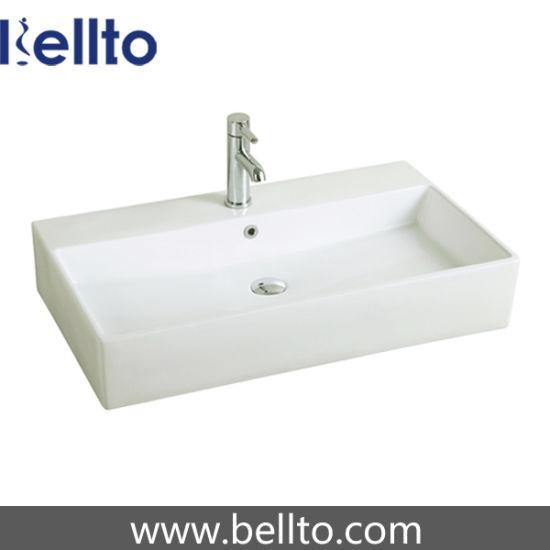 Wall Hung Wash Sink/Ceramic Bathroom Sink for Bathroom Accessories (3706)