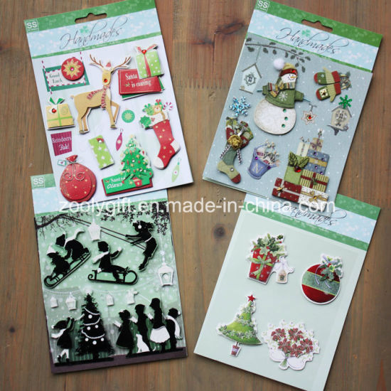 Custom 3D Dimensional Christmas Scrapbook Handmade Paper 3D Stickers pictures & photos