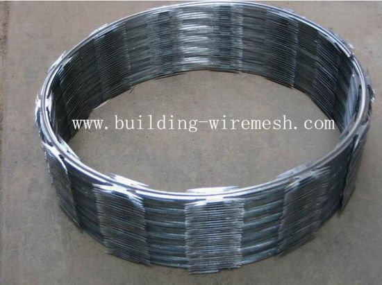 Galvanized Concertina Razor Barbed Wire Coil pictures & photos