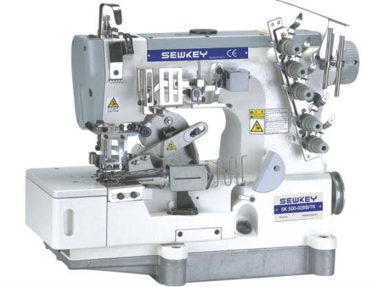 Sk500-02bb/Tk High Speed Interlock Sewing Machine for Tape-Binding