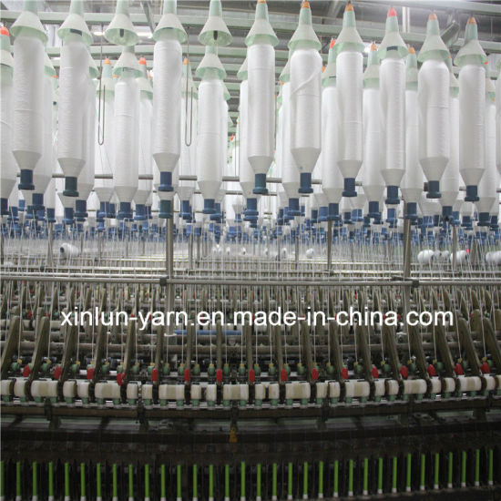 Cheap Polyester Spun Yarn for Knitting, Weaving (Ne30/1) pictures & photos