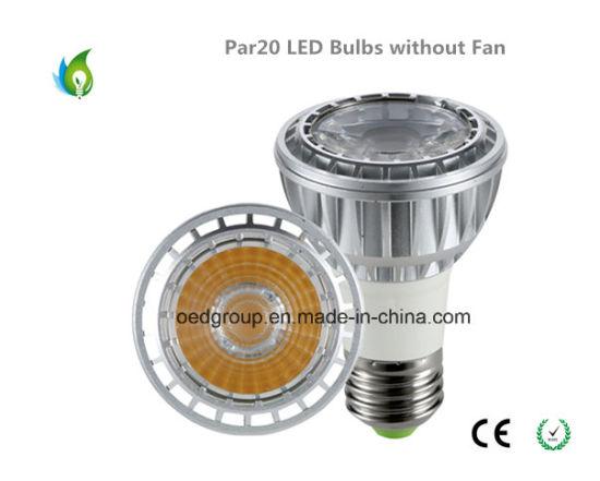10W PAR20 LED Bulbs Without Fan Aluminum Radiator COB LED 85lm/W