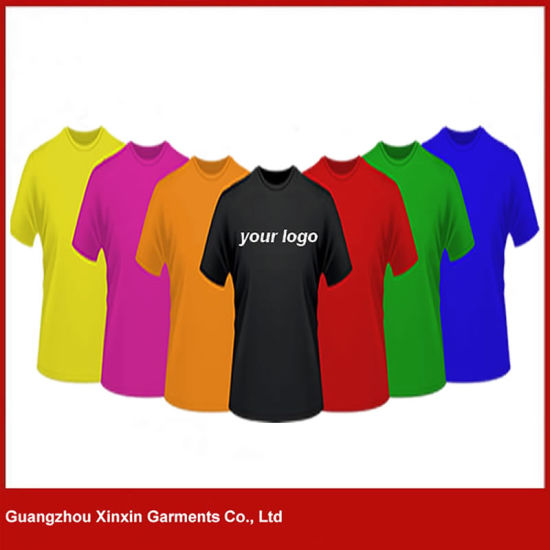 Wholesale Good Quality T-Shirt 100 % Cotton Men Printing 180GSM T Shirts (R114) pictures & photos