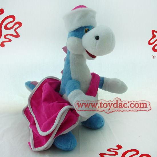 Plush Dinosaur with Dress Toy