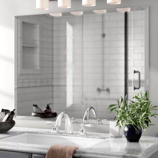 China 3mm Beveled Mirror Home Decor Wall Mirror Bathroom Decorative Mirror Venetial Glass Mirrors Furniture Mirror China Home Decoration Diamond Shape Wall Mirror
