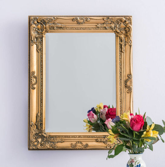 Antique Gold Wooden Framed Handcraft Mirror