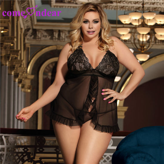 7d6df8a5cc China in stock hot selling on sale black sheer mesh women sexy fancy nighty  jpg 550x550