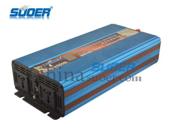 Suoer 2500W Pure Sine Wave Inverter 24V to 220V Power Inverter (FPC-2500B) pictures & photos